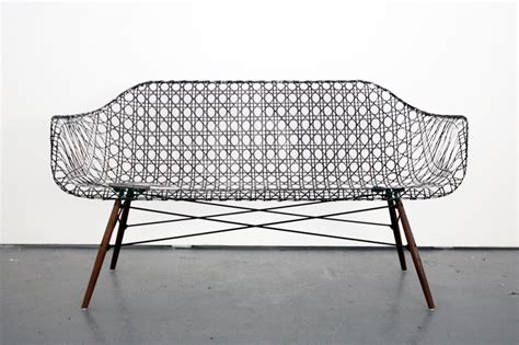 carbon fiber couch weaved carbon fiber eames sofa by matthew strong