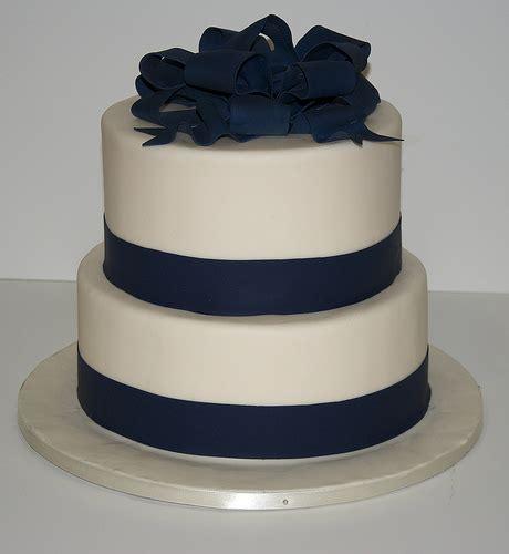 W9003   white navy wedding cake toronto   W9003   A simple