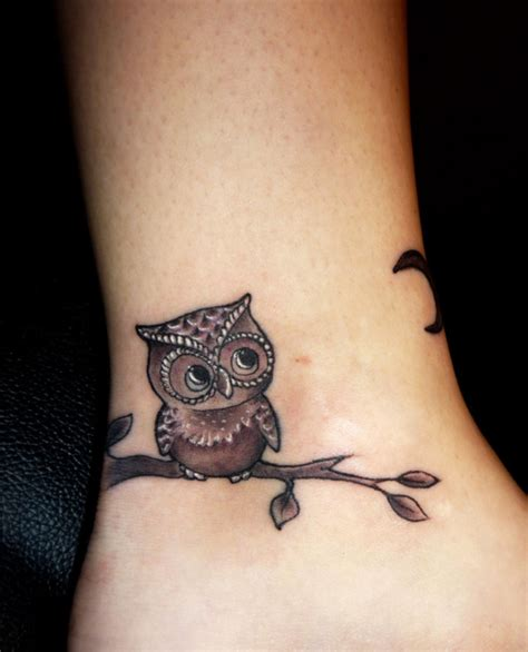 simple owl tattoo thigh best home decorating ideas