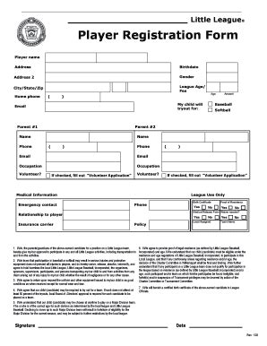 football registration form template blank registration forms template fill printable
