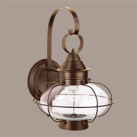 Cottage Outdoor Lighting Norwell Lighting Cottage Bronze Outdoor Wall Light 1324 Br Cl Destination Lighting