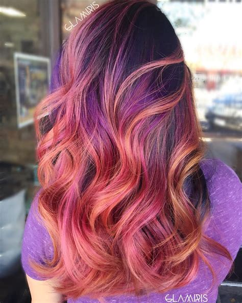 hairstyles with blonde and purple highlights 40 versatile ideas of purple highlights for blonde brown