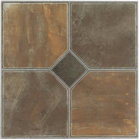 tivoli rustic slate   adhesive vinyl floor tile  tiles sqft walmartcom