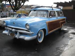 1953 ford ranch wagon woody automobiles