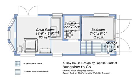 tiny house trailer design free tiny house trailer plans ground floor sleeping plans queen bed on platform with