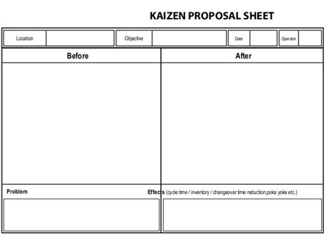 kaizen templates kaizen templates 28 images kaizen report template