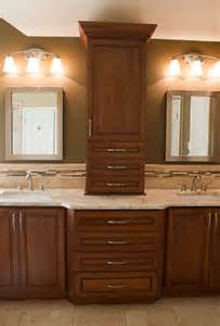 Countertop Cabinet Bathroom Master Bathroom Remodel Colonial Gold Granite Countertop