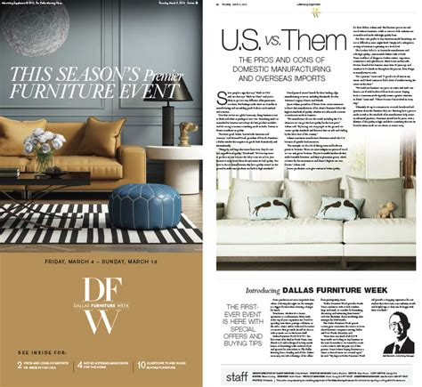 newspaper special section ideas inma furniture event raises revenue for dallas morning