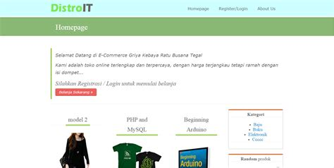tutorial membuat web toko online dengan php source code toko online griyait dengan php mysql sugih code