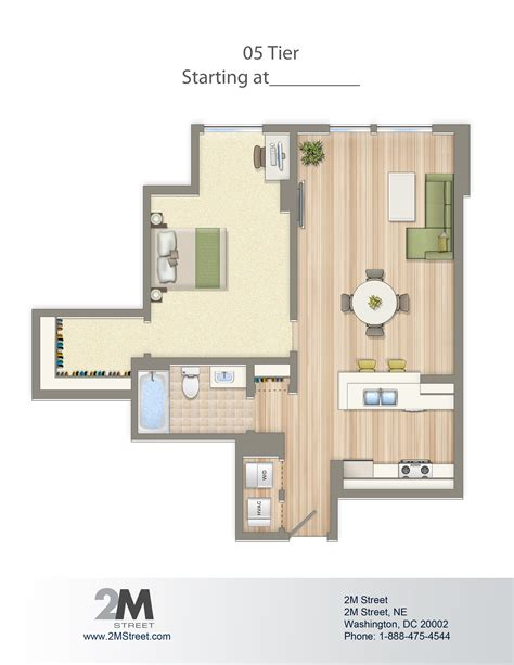 1 bedroom apartments dc floor plans and pricing 2m apartments in noma