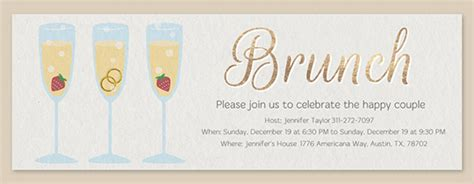 Free Wedding Brunch Invitations Evite Post Wedding Brunch Invitation Template