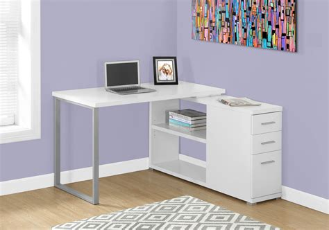 White L Shaped Corner Computer Desk With Storage L Shaped Computer Desk With Storage