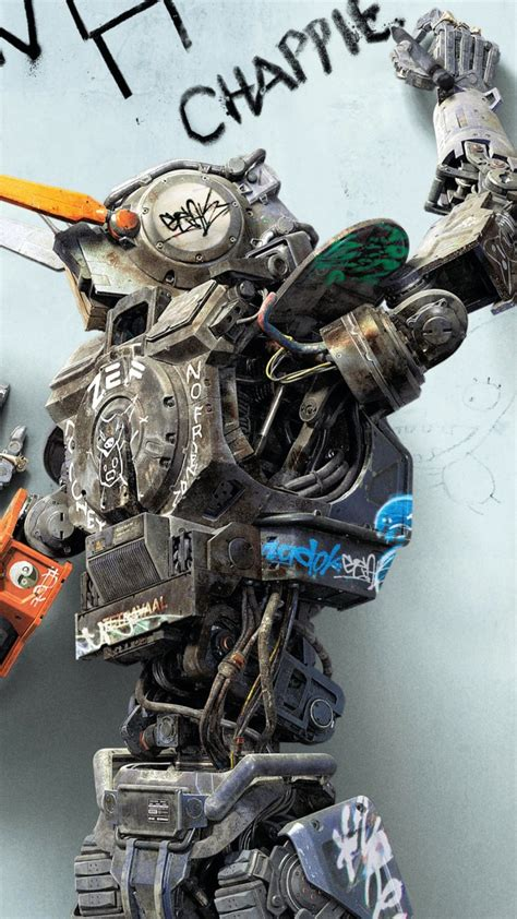 robot po imeni chappie film обои робот по имени чаппи кино фильм робот chappie