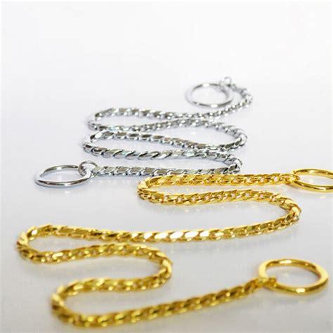 Garden Snake Chain 1pc Pet Collar Metal P Leash Leads Golden