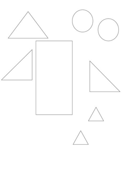 2d shape templates make shape pictures using shapes by trick2009 teaching