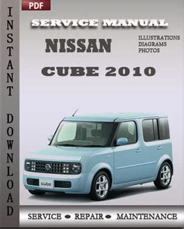 nissan cube 2010 workshop manual free download service and repair manuals