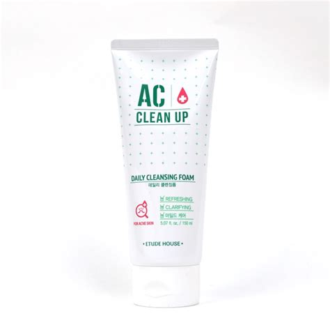 Etude House Ac Clean Up Acne Daily Cleansing Foam 150ml etude house ac clean up daily cleansing foam review
