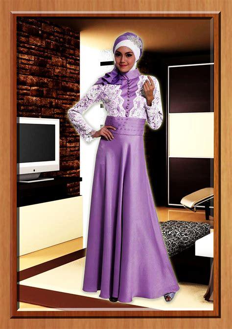 Balino Gamis Ungu ungu cavelli baju muslim gamis modern