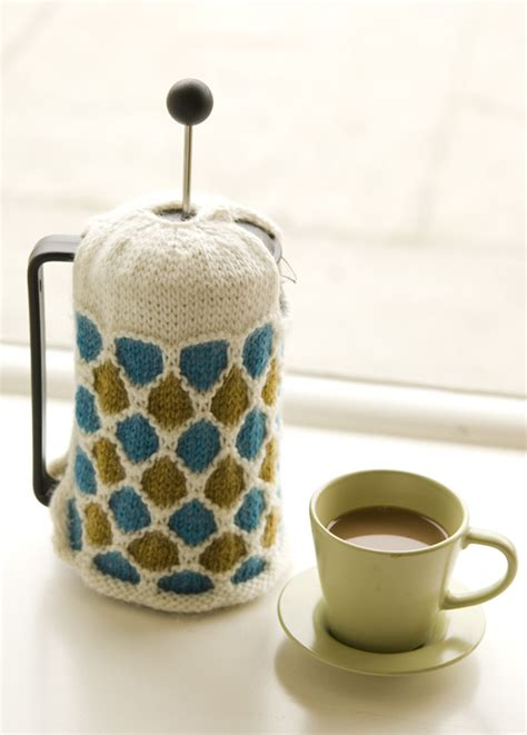 Pattern For French Press Cozy | new free pattern windowpane french press cozy
