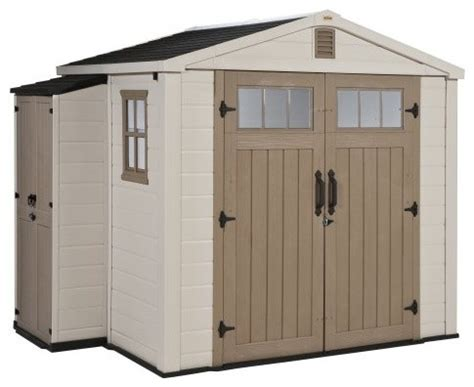 Keter Infinity Shed by Keter Infinity 8 X 6 Ft Storage Shed With Side Cabinet