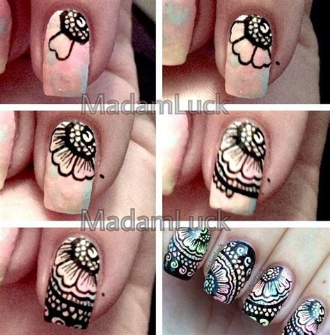 nail art lace tutorial floral lace nail tutorial nail art tutorials pinterest