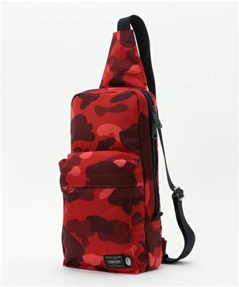 Bathing Ape Sling Bag Camo a bathing ape porter color camo one shoulder bag mens