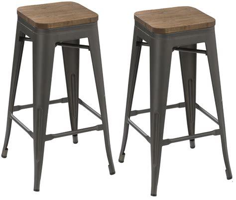 vintage wood and metal bar stools btexpert 30 inch industrial metal vintage stackable