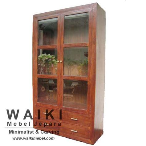 Lemari Display Jati Jepara lemari display jepara indo 3 lemari pajang minimalis harga terjangkau
