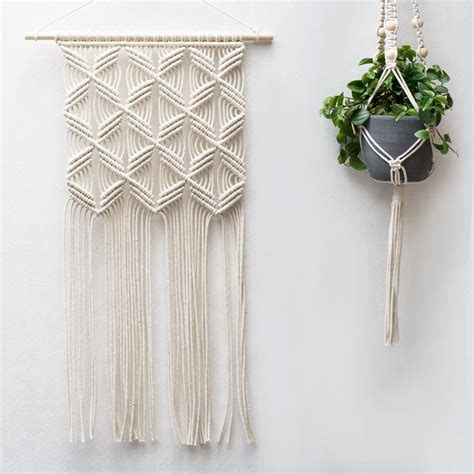 Macrame Wall Hanging - macrame wall hanging modern macrame weaving by
