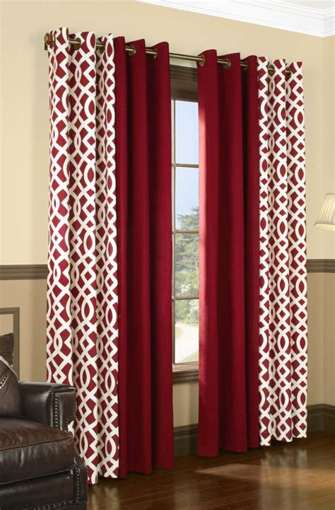 modern red curtains accessories stunning window treatment decor with grommet
