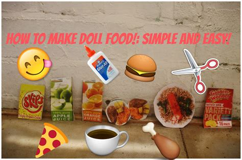 How To Make Food Out Of Paper - how to make american doll food out of paper 28 images