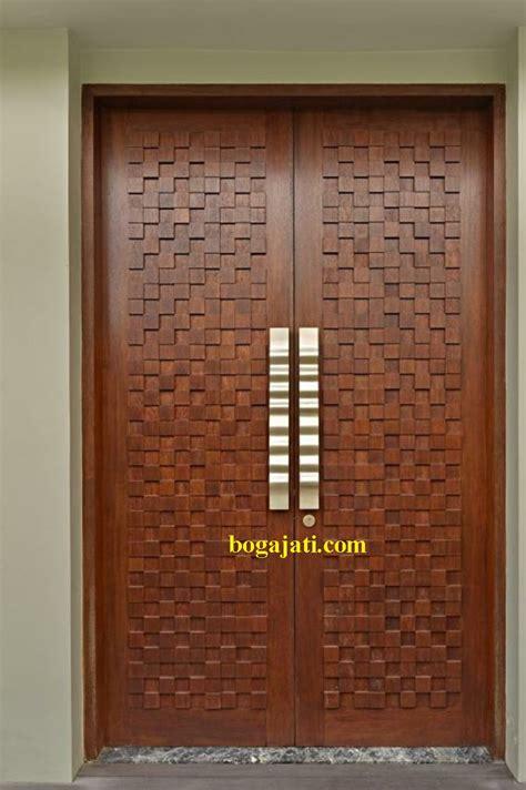 Pintu Utama Panel Solid Kayu Ker Samarinda Oven 80x210 Pu7 pintu motif kayu jati pk boga jati
