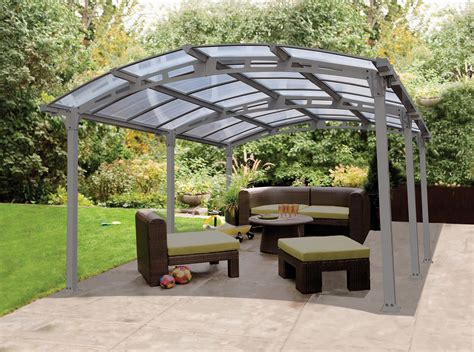 Steel Patio Kits by New Arcadia Carport Patio Cover Kit Garage Vehicle Housing