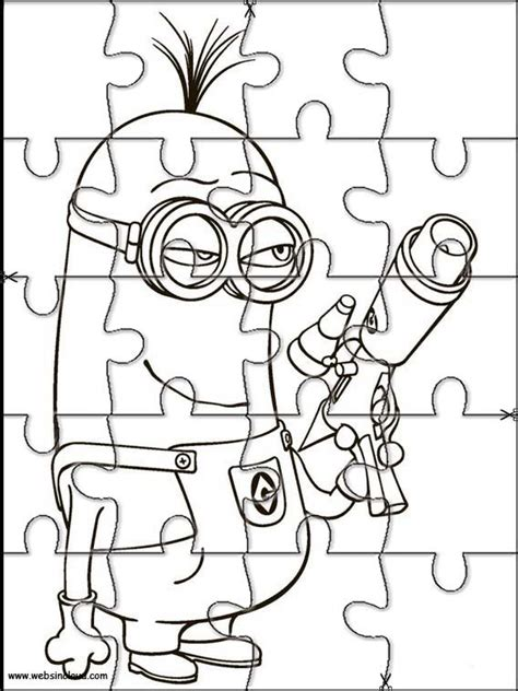 printable jigsaw puzzles to colour printable jigsaw puzzles to cut out for kids minions 9