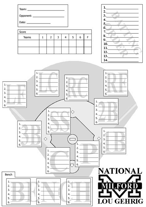 league lineup card template league lineup template go search for