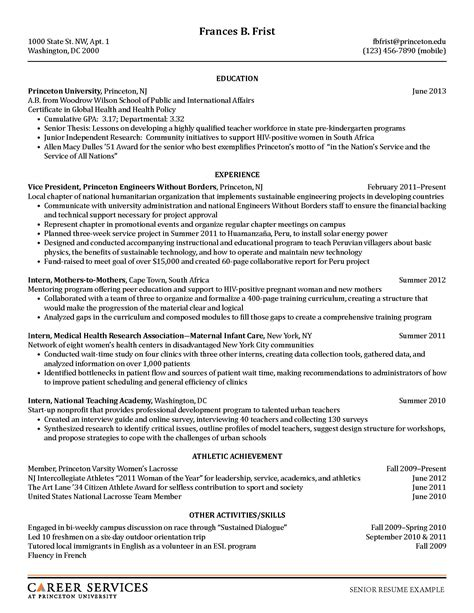 A Template For A Resume by Resume Exles Resume Cv
