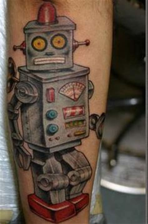 robot hand tattoo robot on