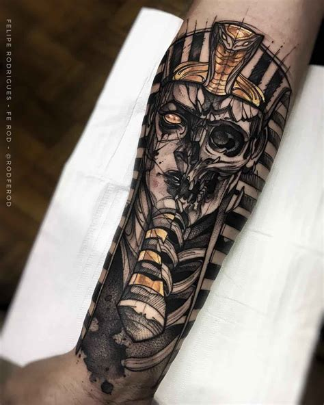 skeleton arm tattoo pharaoh skeleton tattoos
