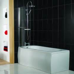p shaped shower bath from plumb shower baths
