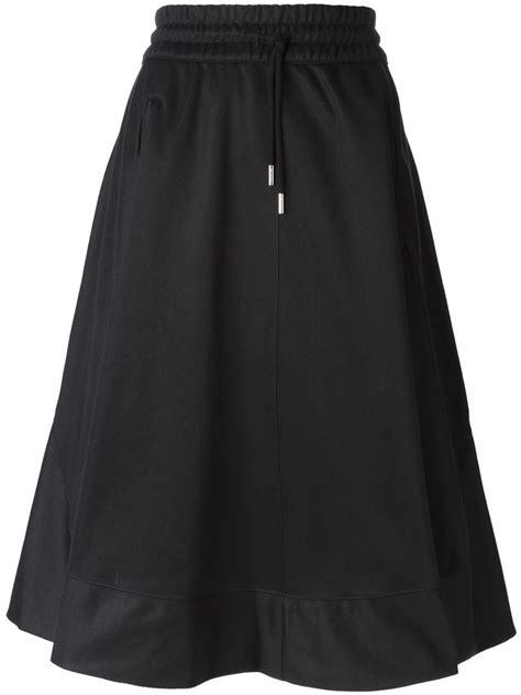 adidas originals a line jersey skirt in black lyst