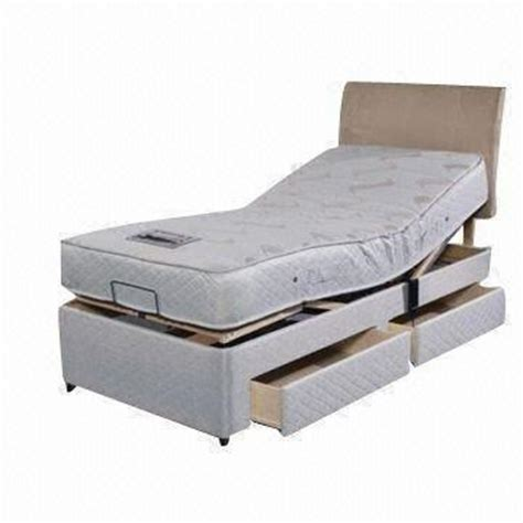 electric adjustable bed  drawers  bedroom measures