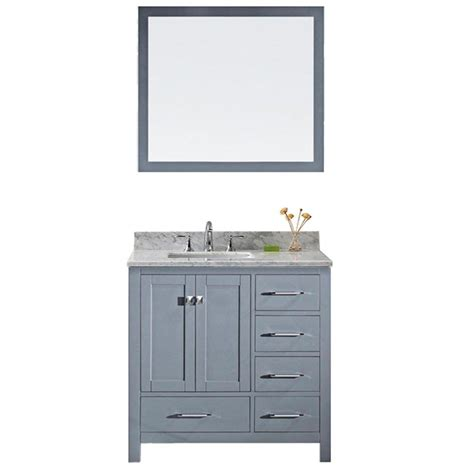 vanities for bathrooms home depot virtu usa caroline avenue 36 in w x 22 in d x 33 46 in