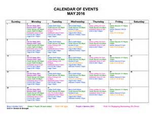 Event Calendar Monthly Event Calendar Design Calendar Template 2016