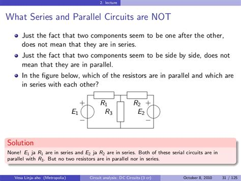 resistors in series and parallel discussion circuit analysis dc circuits