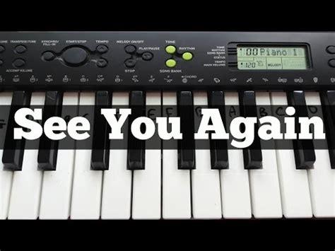 tutorial keyboard see you again how to play see you again by wiz khalifa charlie pu