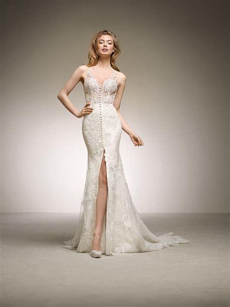 pronovias wedding dresses and cocktail dresses daring mermaid wedding dress dauco pronovias 2018