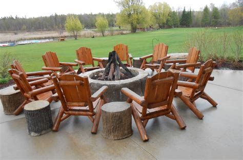 log cabin patio furniture cedar outdoor log furniture tables chairs more