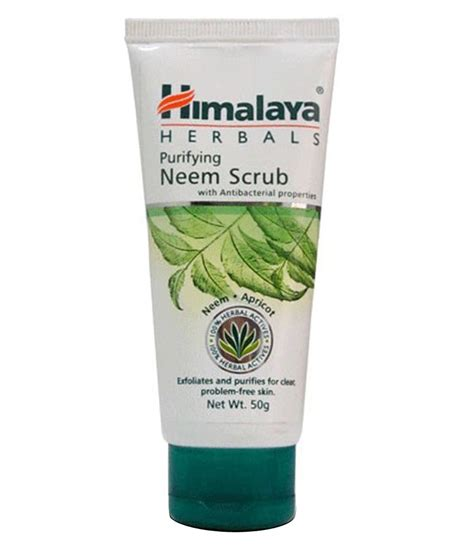 himalaya purifying neem scrub 50 gm buy himalaya