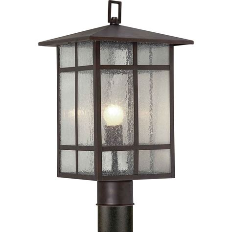 Homedepot Outdoor Lighting Filament Design Burton 1 Light Antique Bronze Outdoor Incandescent Post Light The Home Depot