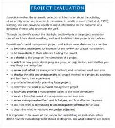 template for evaluation report project evaluation 9 free documents in pdf